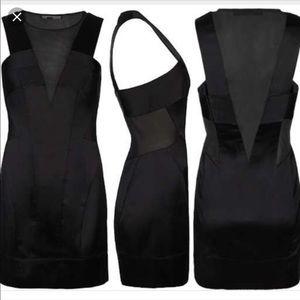 AllSaints Size2 Emi Satin Dress Mesh Panels